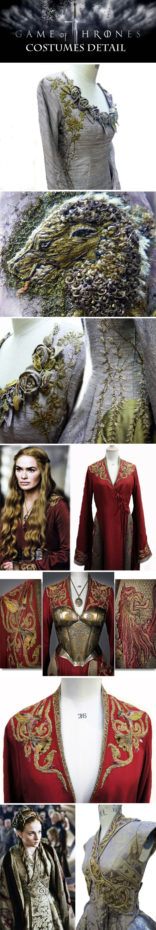 Game of Thrones costumes detail...