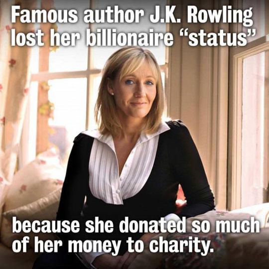 Good girl J.K.Rowling…