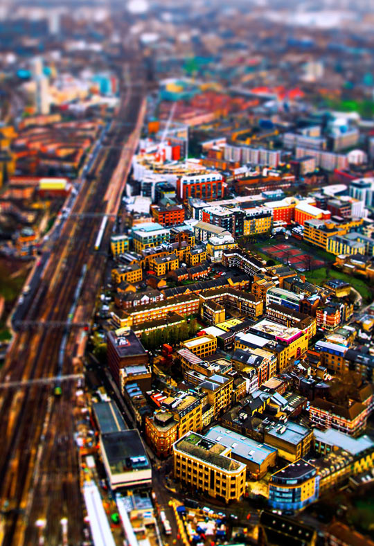 London, tilt-shifted…