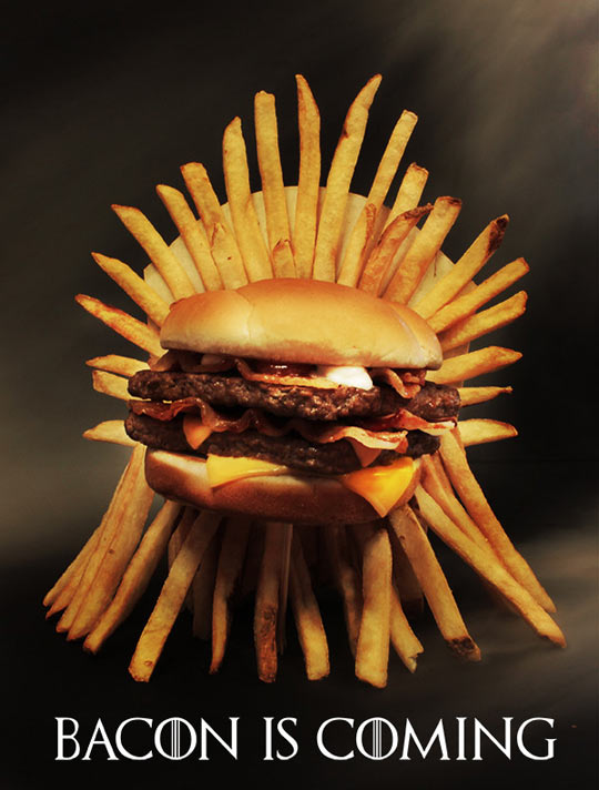 On a throne of fries…