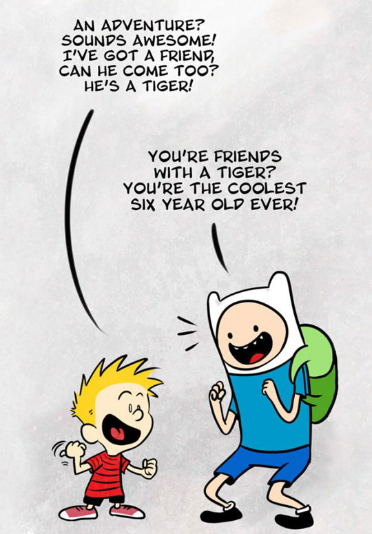Finn meets Calvin…