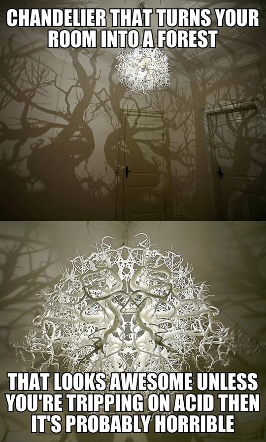 Chandelier that turns your room into a forest…