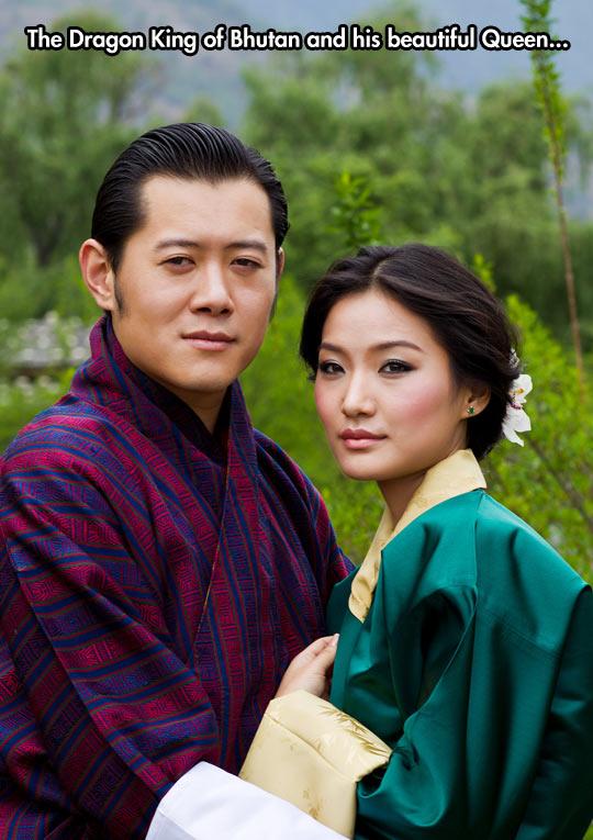 cool-dragon-king-Bhutan-beautiful-Queen