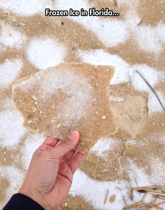Sand in Florida gives people the chills…