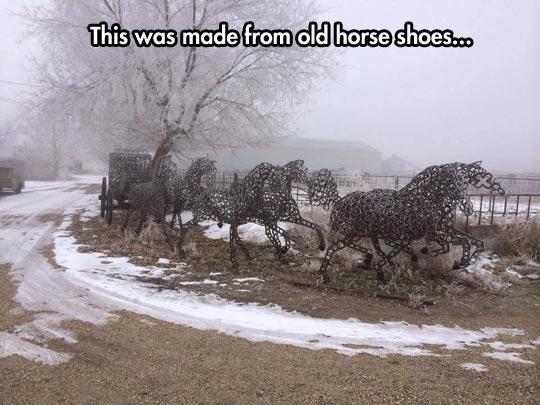 cool-horse-shoe-sculpture-Idaho