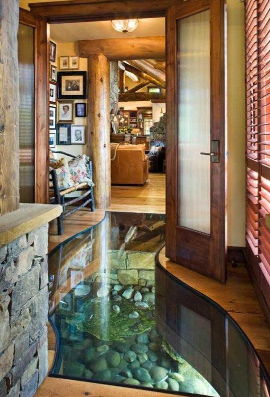 A river runs under this house…