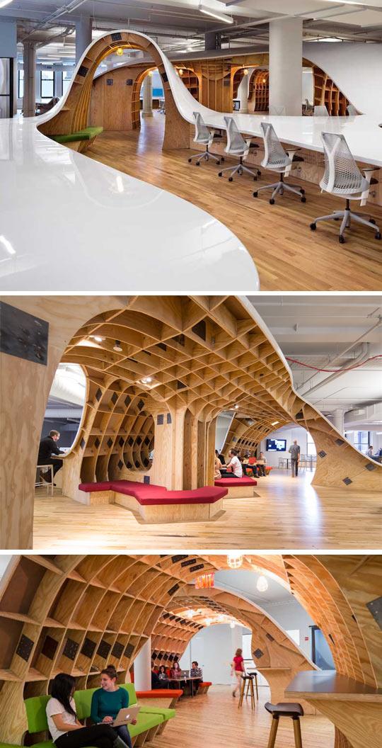 Giant curvy desk…