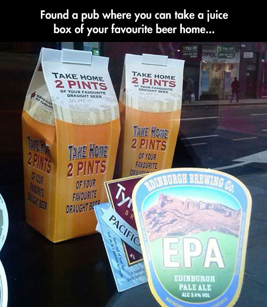 Scotland constantly finding new ways to make people drunk…