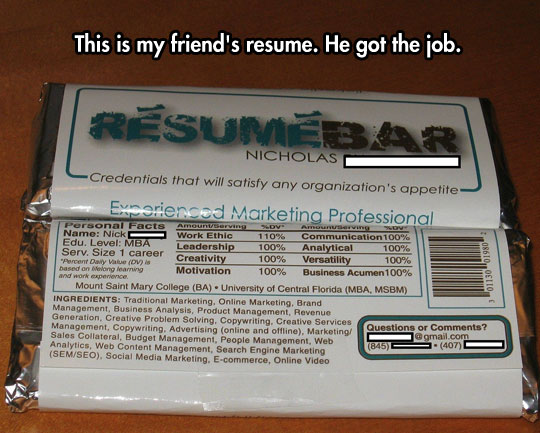 An innovative resume design…