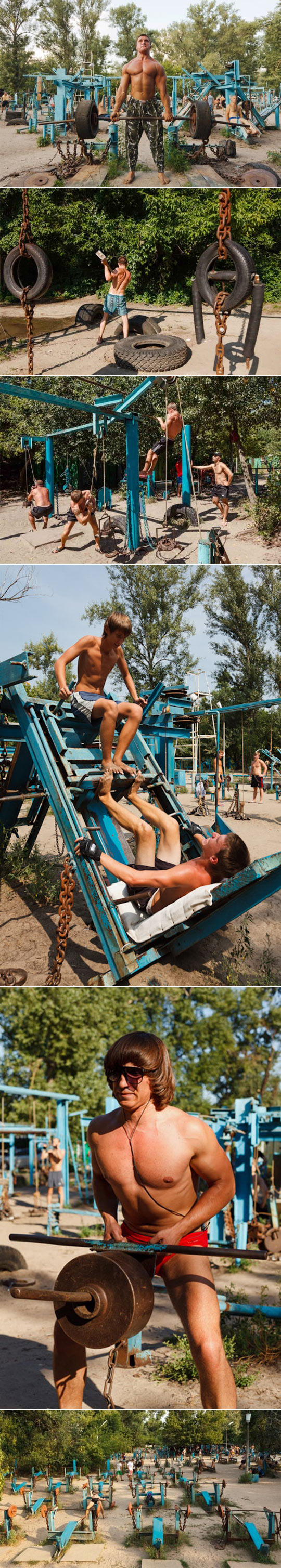 cool-scrap-metal-outdoor-gym-Ukraine-beach