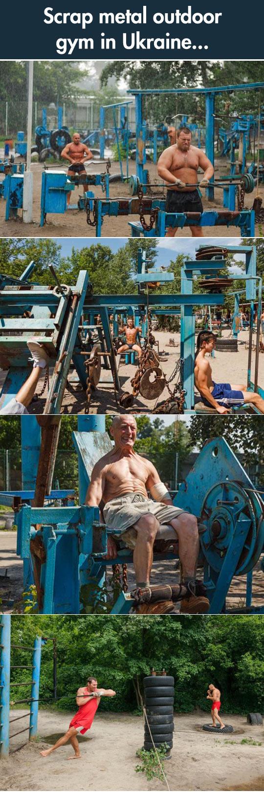 cool-scrap-metal-outdoor-gym-Ukraine
