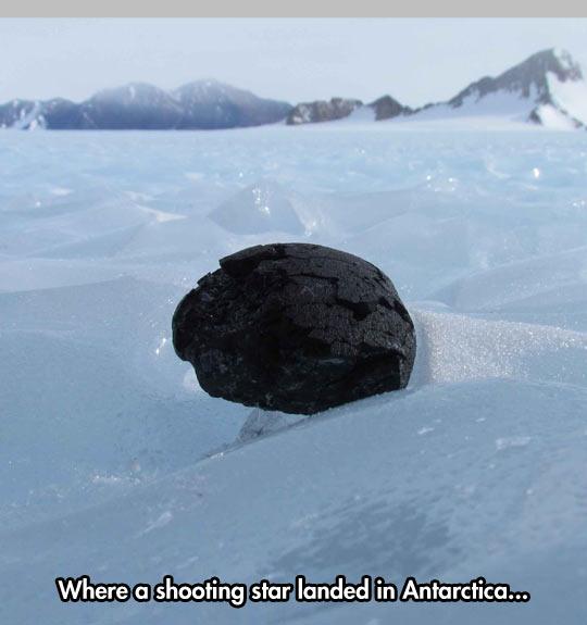 Meteorite landed in Antarctica…