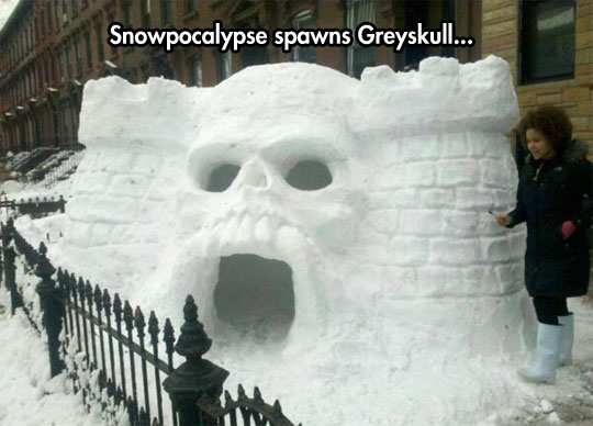 cool-snow-cave-castle-skull