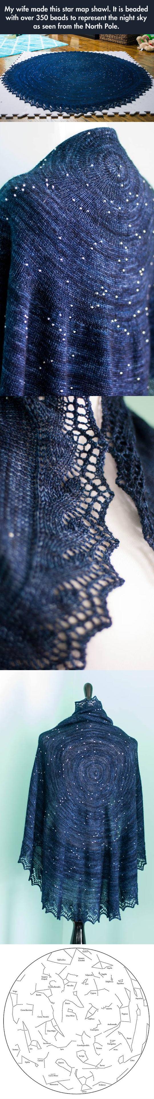 Star map shawl…