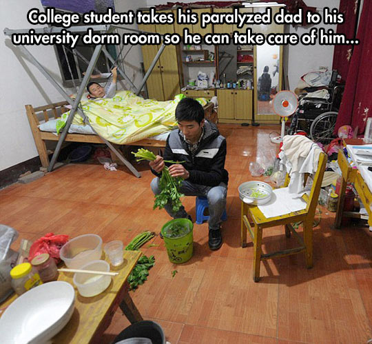 This is a good father-son relationship…