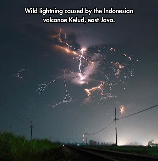 Wild lightning…