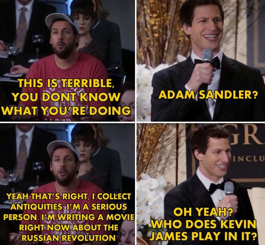 Adam Sandler's Brooklyn Nine Nine cameo…
