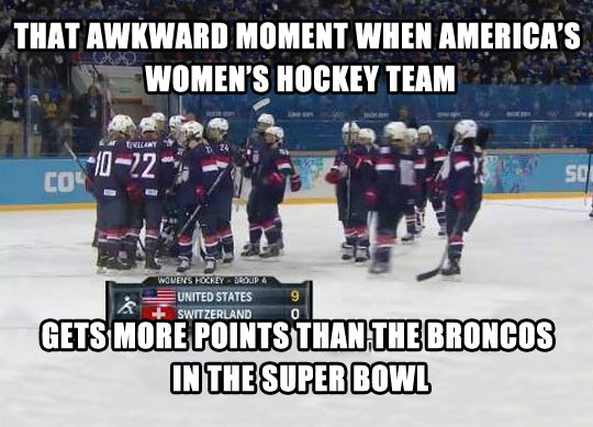 Well done, ladies…