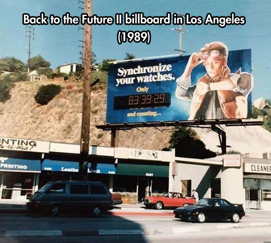 One of the coolest movie billboards of all time…
