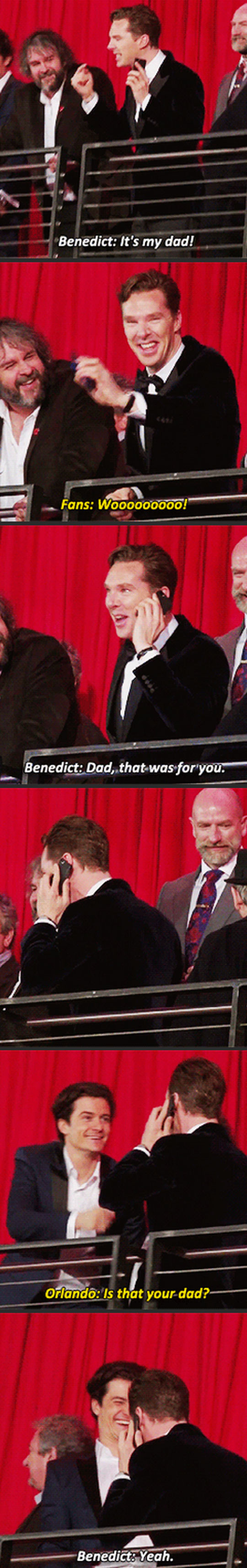 Bennedict and his dad…
