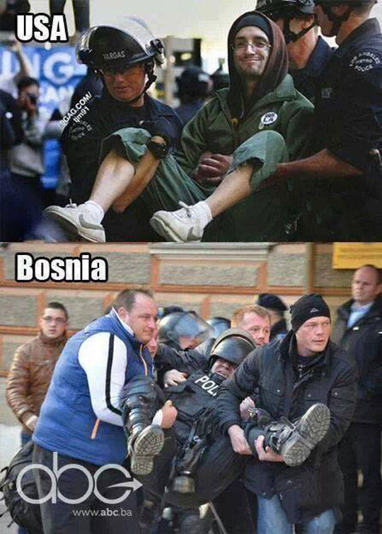 funny-Bosnia-USA-police-carrying-protest