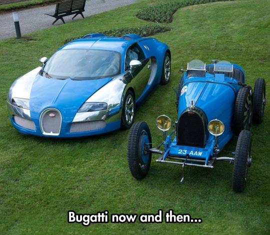 funny-Bugatti-now-then-new-car