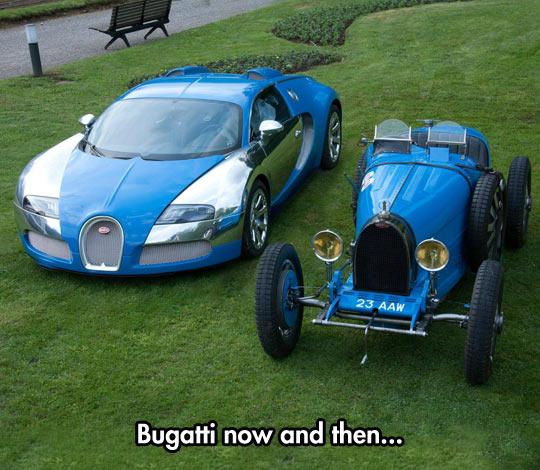 Bugatti cars…