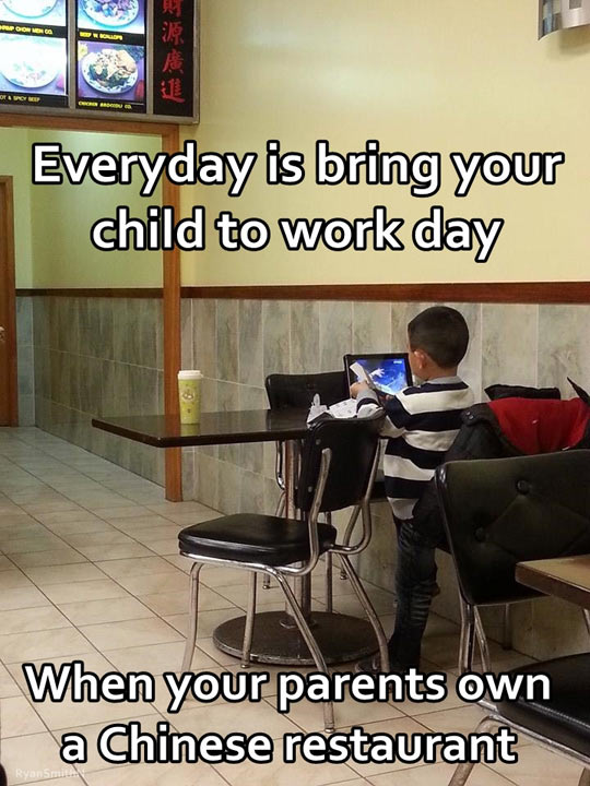 Bring your child to work day…