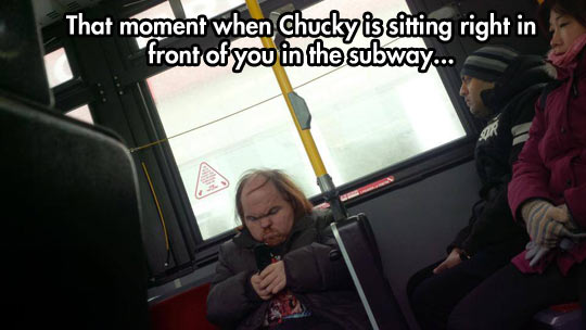 funny-Chucky-lookalike-man-subway-movie