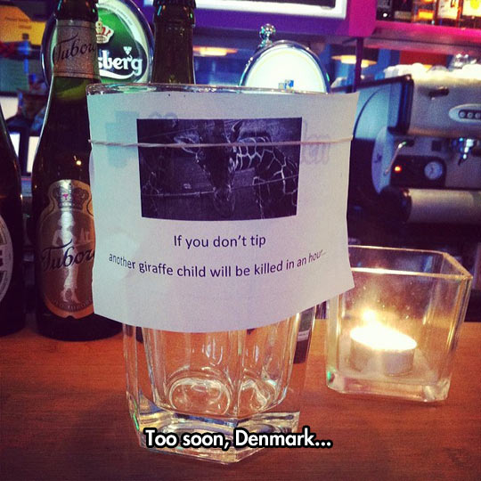 Creative way to ask for tips…