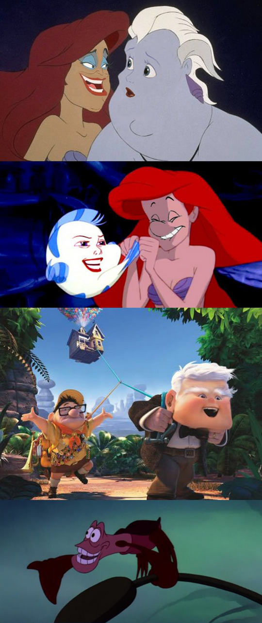 Face-swapping Disney characters...