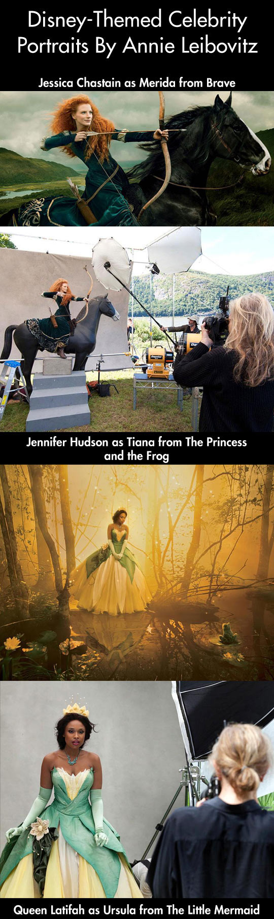 Famous actors photographed as Disney characters...