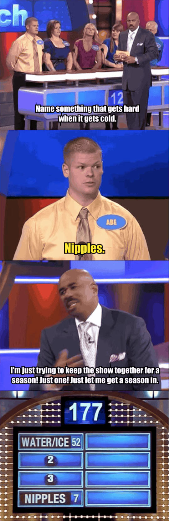 Family Feud is supposed to be PG...
