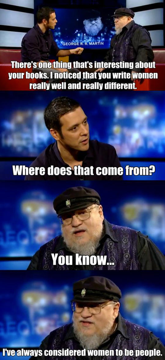 George R. R. Martin on female characters…