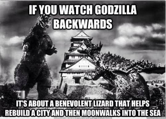 Good guy Godzilla…