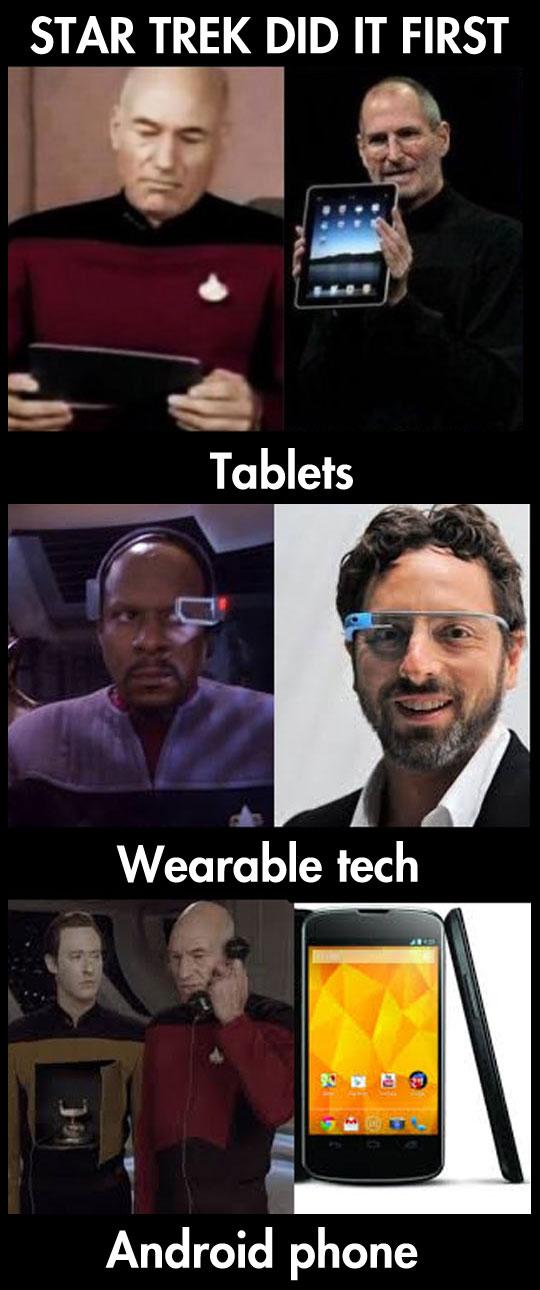 Star Trek was first…