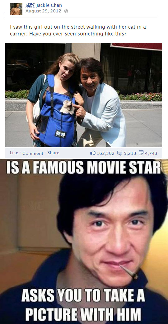 Jackie Chan takes all his own pictures…