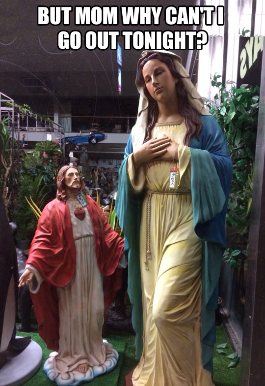 funny-Jesus-Mary-statue-asking