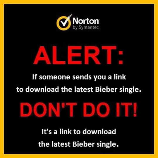Norton actually posted this on their Facebook timeline…