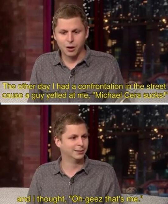 Michael Cera at his best…