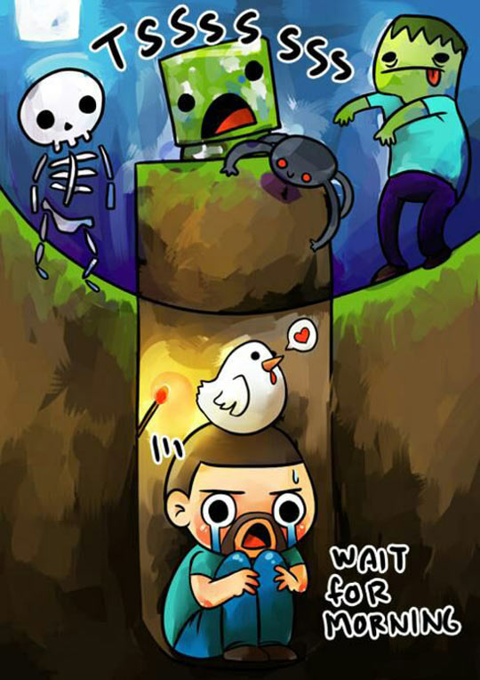 funny-Minecraft-zombies-buried-crying