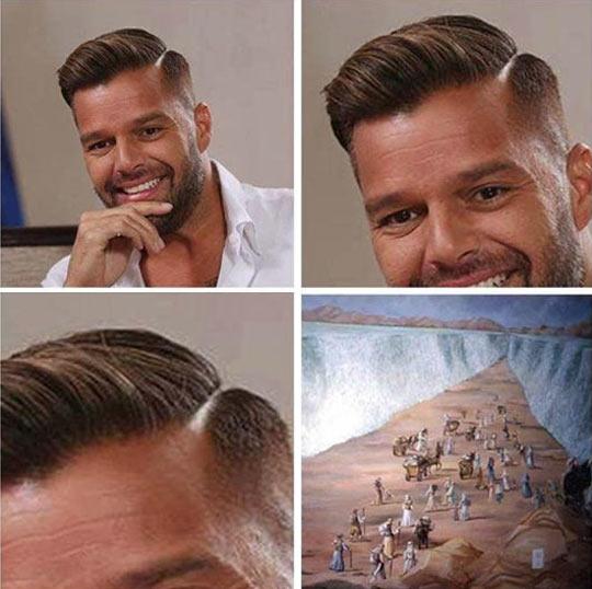funny-Ricky-Martin-hair-side-split-Moses