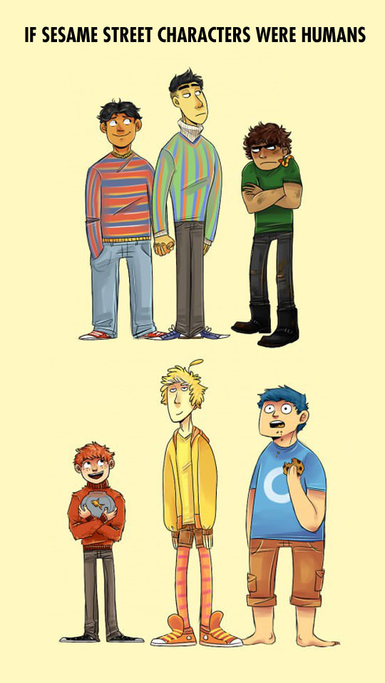 If Sesame Street characters were humans…