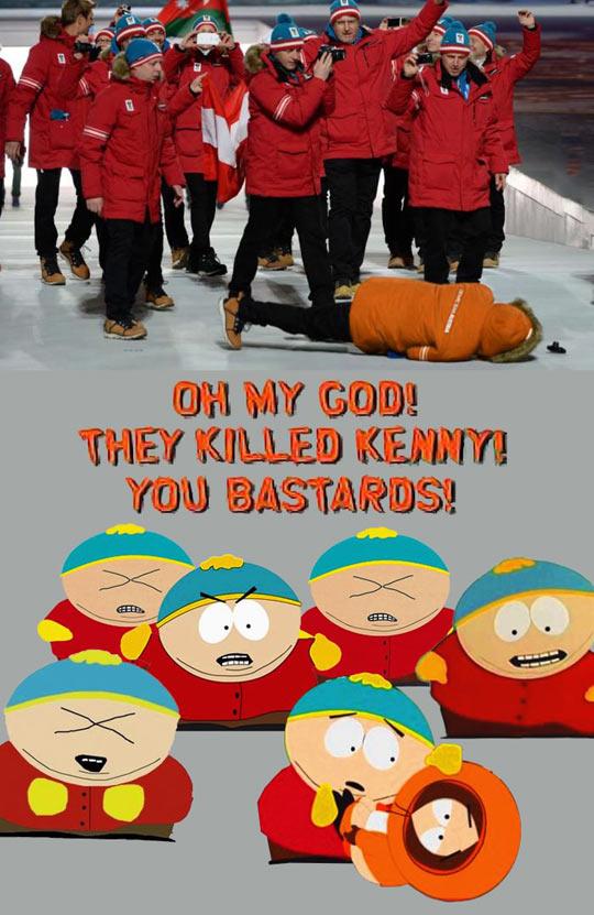Eric Cartman must've designed Sochi's coats…