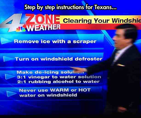 Texans experiencing Winter for the first time…