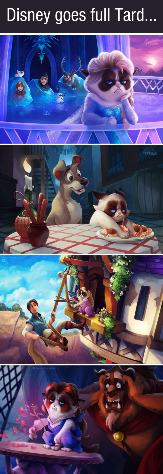 If Grumpy Cat was the star of Disney movies...