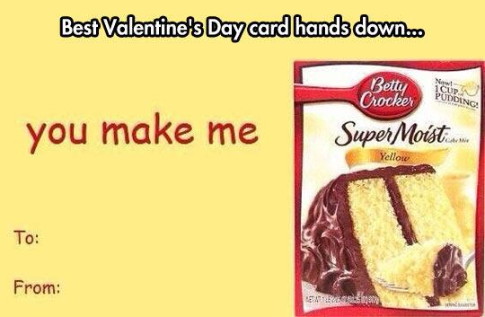 You, make me cake…