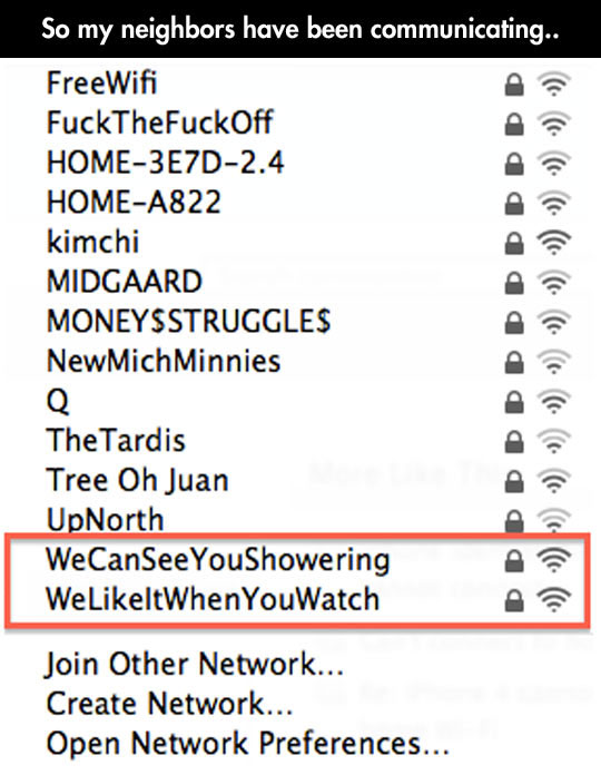My neighbors are unique…
