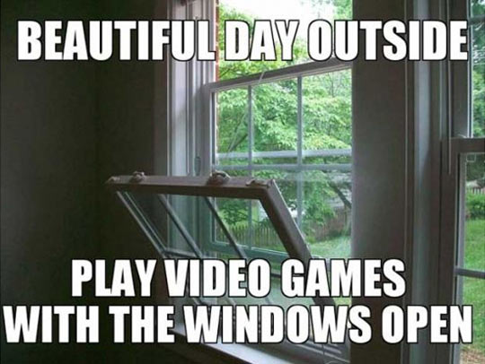 Beautiful day outside…