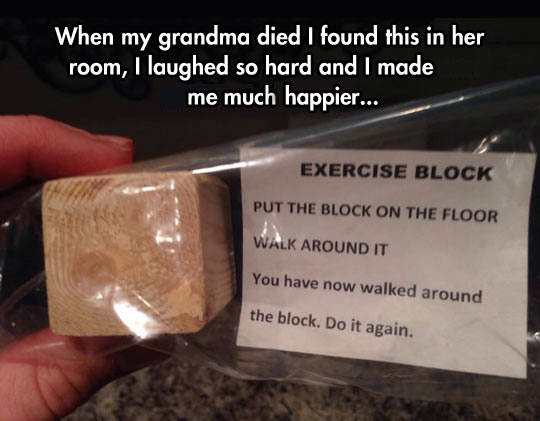 Exercise block…